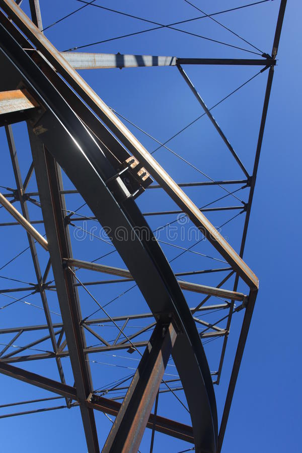 Construction Steelwork Steel framework structure royalty free stock photo