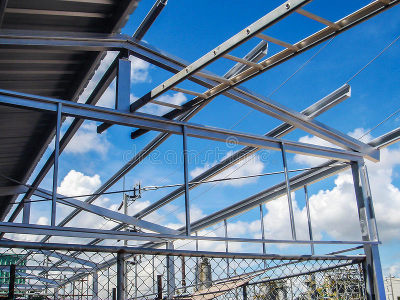 Construction structural steel stock photos