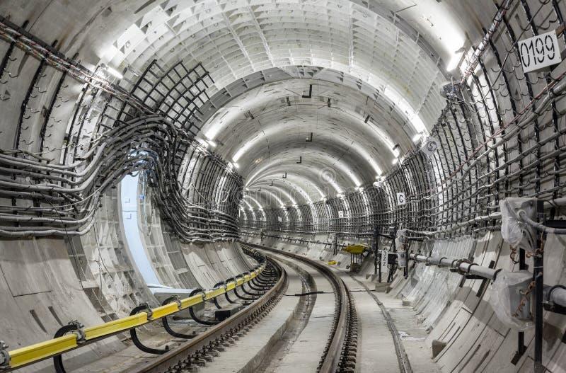 Construction of the subway royalty free stock photo