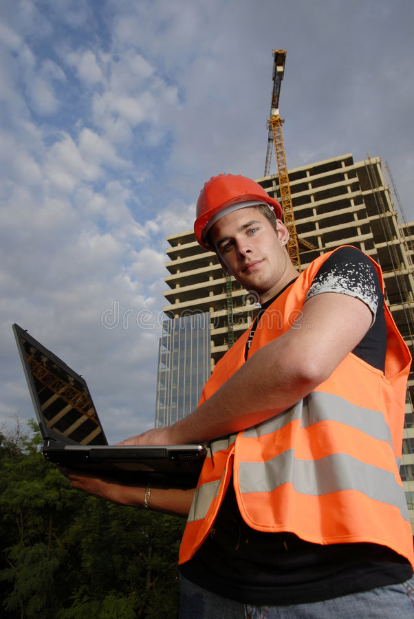 Construction supervisor stock photography