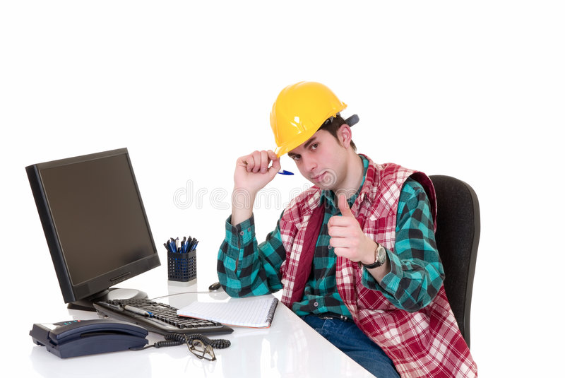 Construction supervisor office stock photos