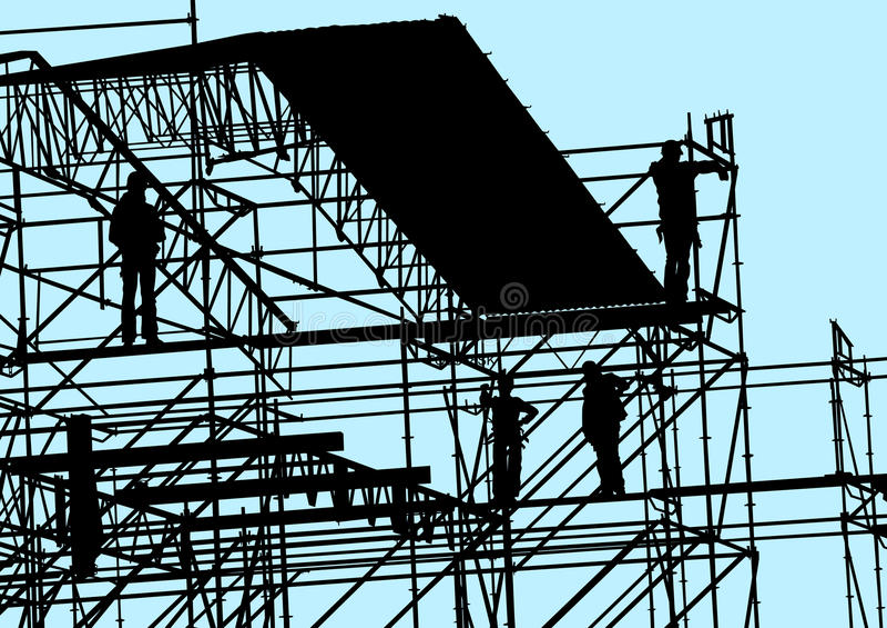 Construction sur le ciel bleu illustration libre de droits