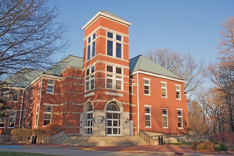 Construction sur un campus d'université en Indiana image libre de droits