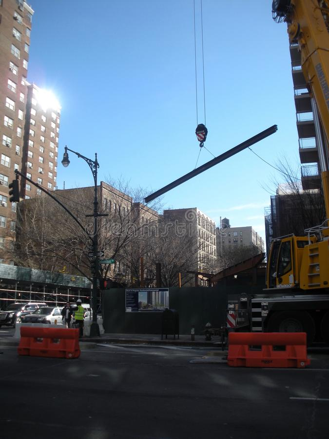 Construction, Upper West Side, NYC, NY, USA royalty free stock photography