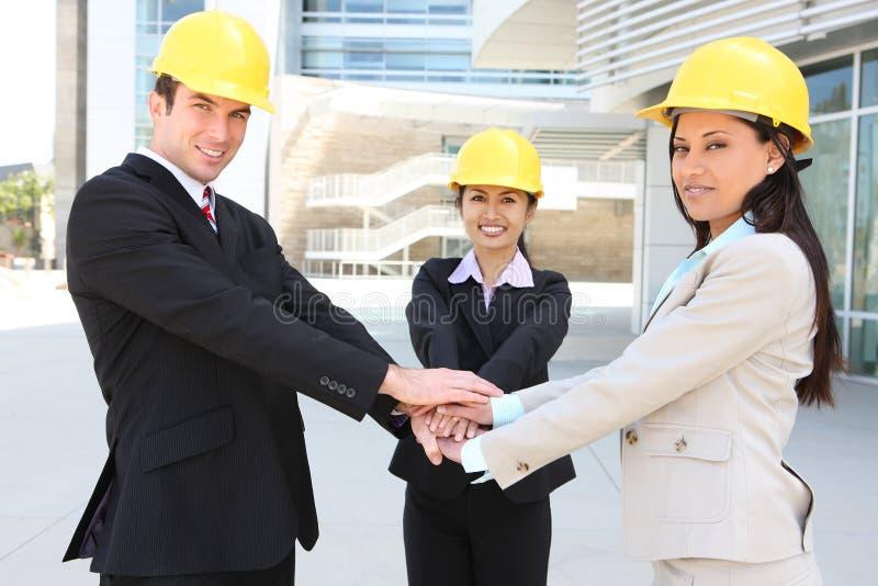 Construction Team Hanshake royalty free stock photography