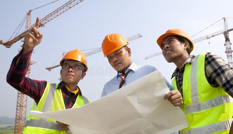 Construction teamwork royalty free stock photos