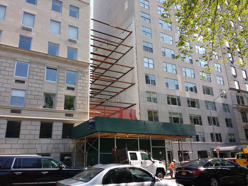 Construction on 5th Avenue, Upper East Side, NYC, USA royalty free stock images