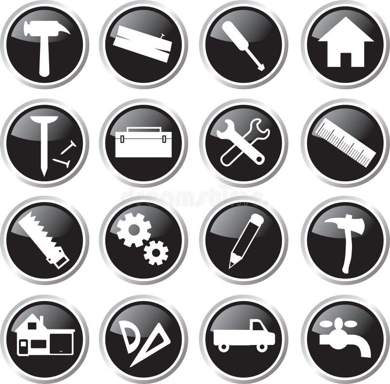Download Construction Tools Icon Set Stock Illustration - Image: 33539368