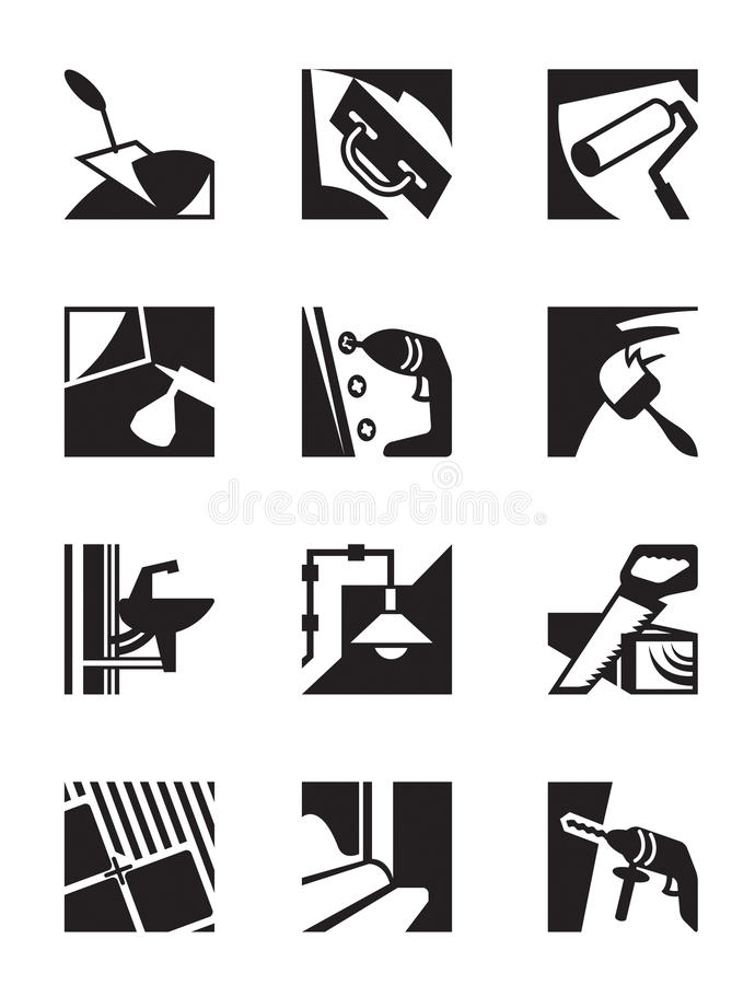 Download Construction Tools And Materials Stock Vector - Image: 34611190