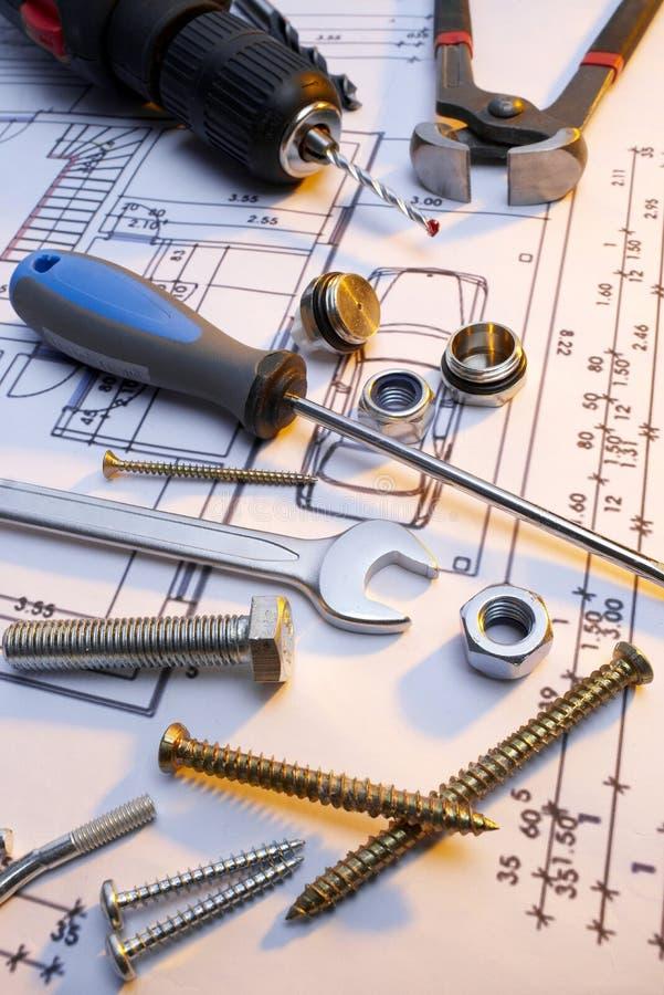 Construction tools series royalty free stock photos