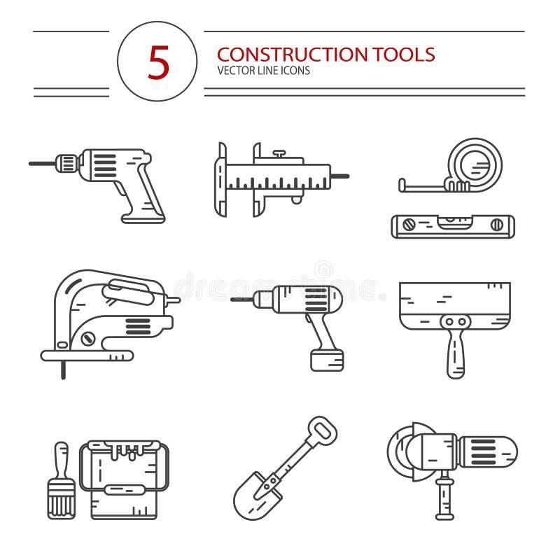 Construction tools stock illustration
