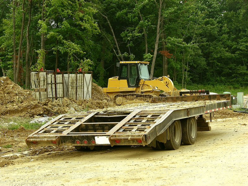 Download Construction - Trailer Hauler Stock Photo - Image of dirt, industry: 173700