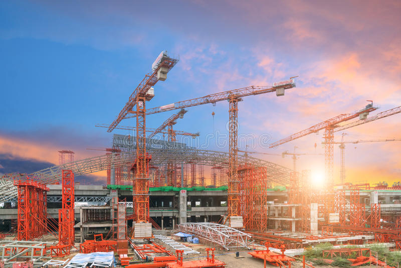 Construction of transport industry structure royalty free stock photography