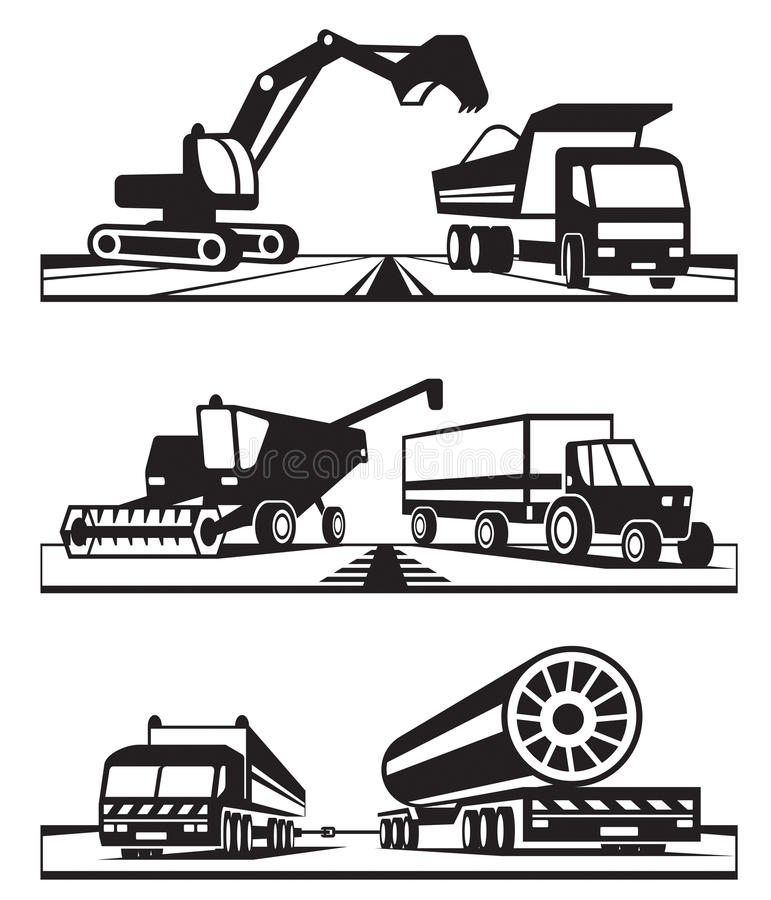 Download Construction Transportation Stock Vector - Image: 36053089