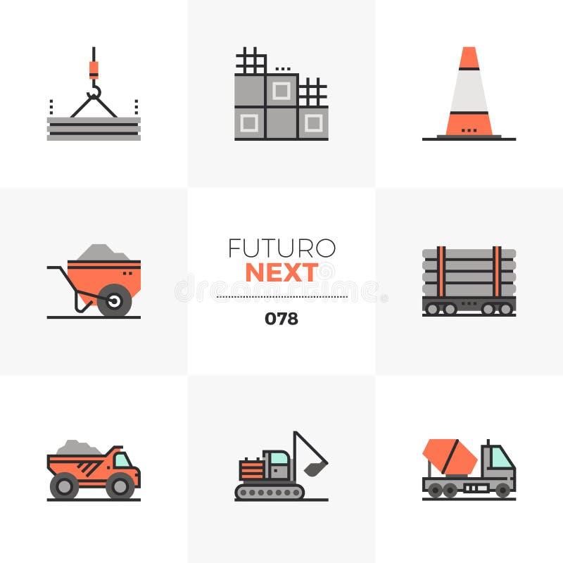 Free Construction Transportation Futuro Next Icons Stock Photo - 122002380