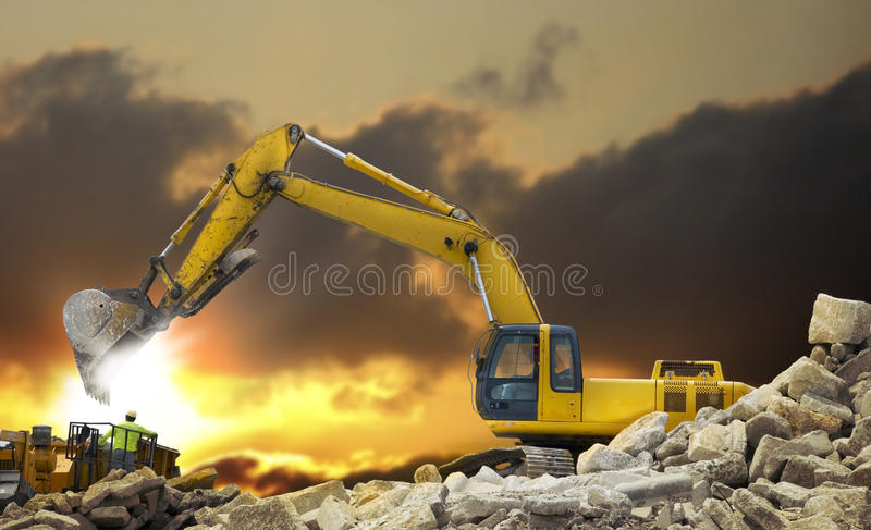 Construction vehicle royalty free stock images