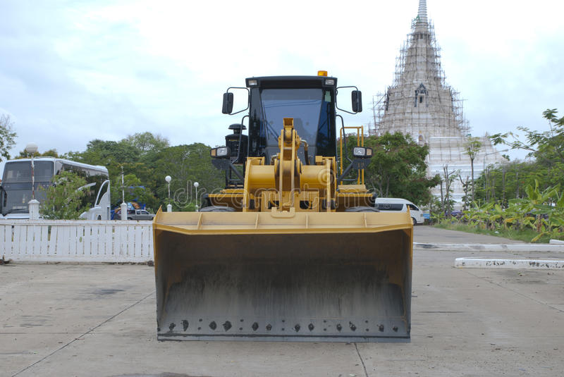 Construction vehicles in Thailand royalty free stock photography