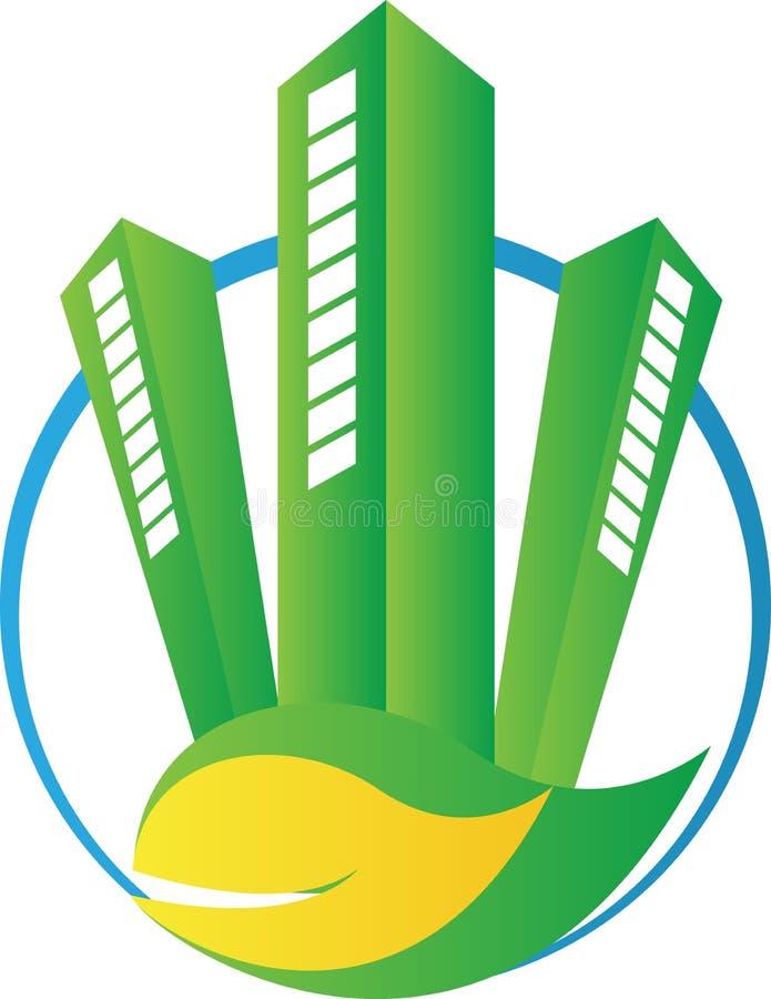 Construction verte d'Eco illustration stock