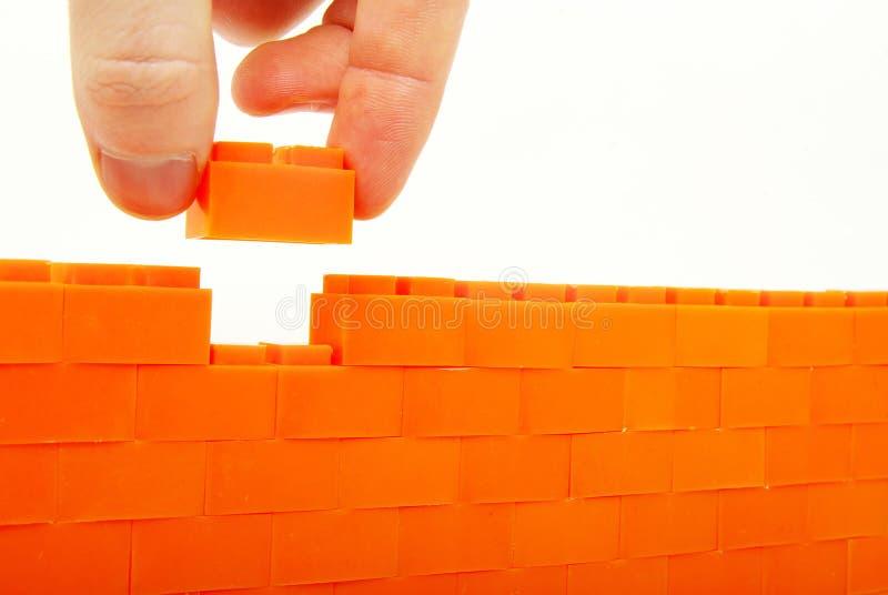 Construction the wall stock photos