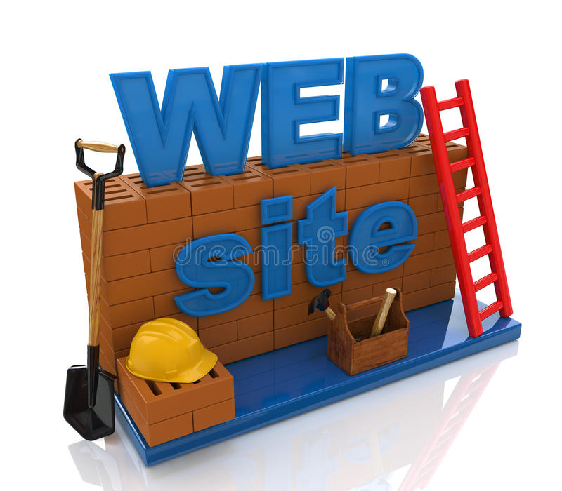 Construction website royalty free stock photo