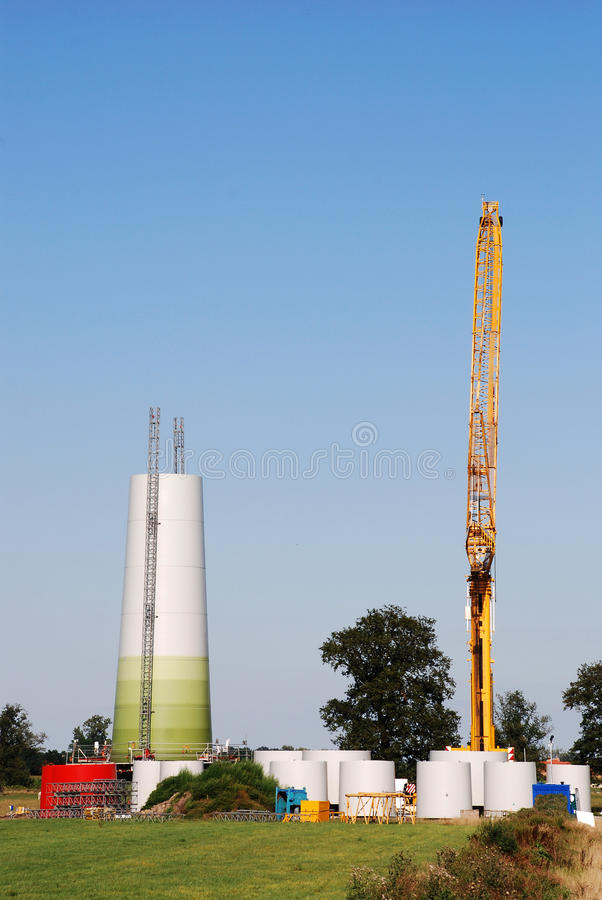 Download Construction windturbine stock photo. Image of electricite - 26896744