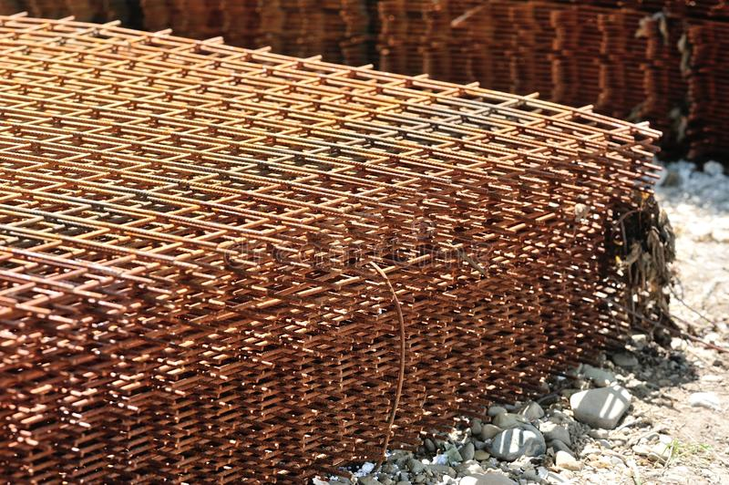 Construction Wire Mesh Stock Image