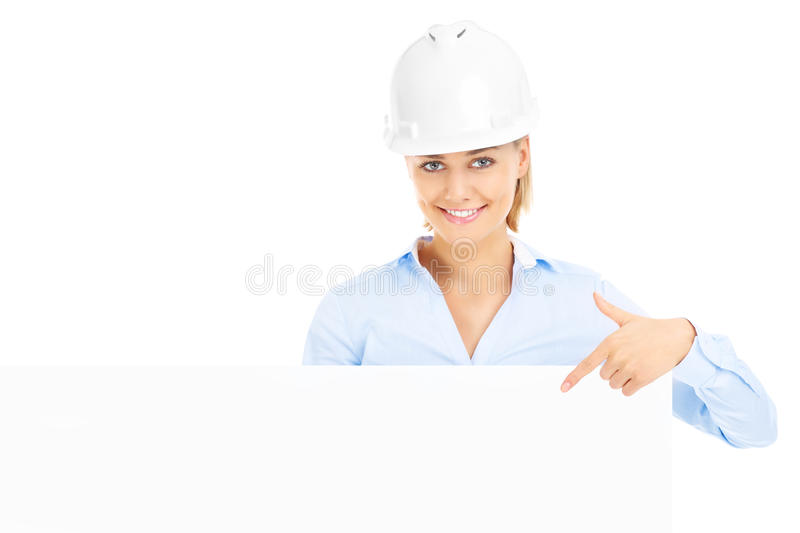 Download Construction woman stock photo. Image of advertising - 39504294