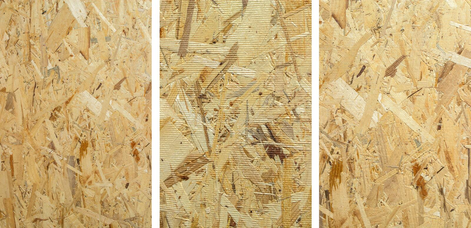 Construction wood plate OSB - reverse side. royalty free stock image