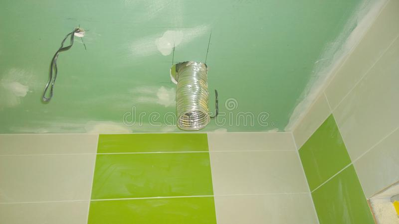 Download Construction Work In The Apartment, Installation Of Tiles On The Stock Photo - Image: 80695454