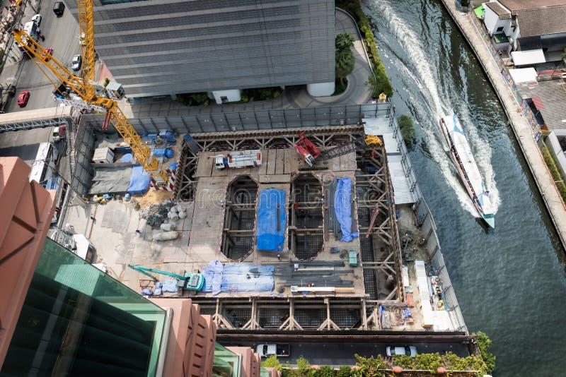 Construction work in Bangkok royalty free stock image