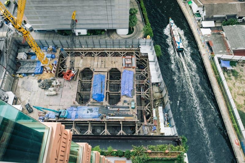 Construction work in Bangkok stock photography