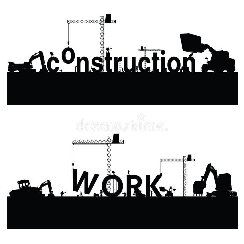 Construction work black art vector vector illustration