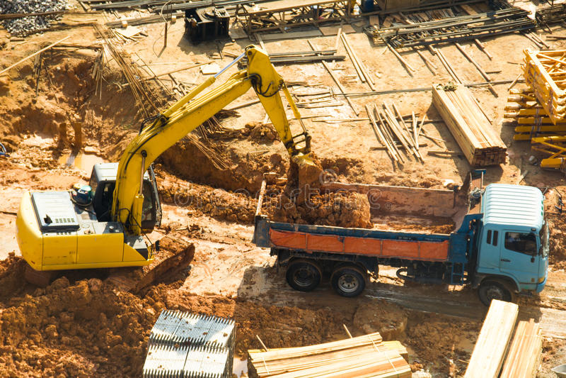 Construction work royalty free stock photo