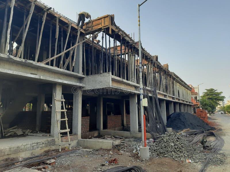 Construction  work in nashik India ...real estate. Construction  work in nashik India ...real royalty free stock photos