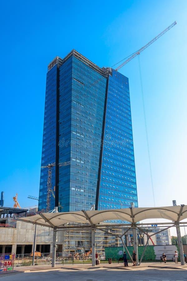 Free Construction Work, Nivy Tower, Bratislava, Slovakia Royalty Free Stock Images - 166513599