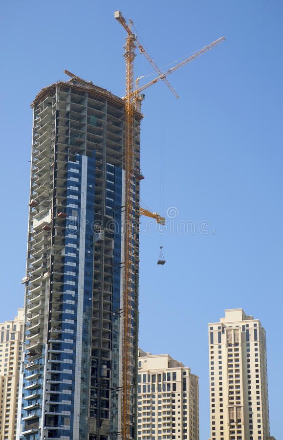 Construction work site. In Dubai royalty free stock photo