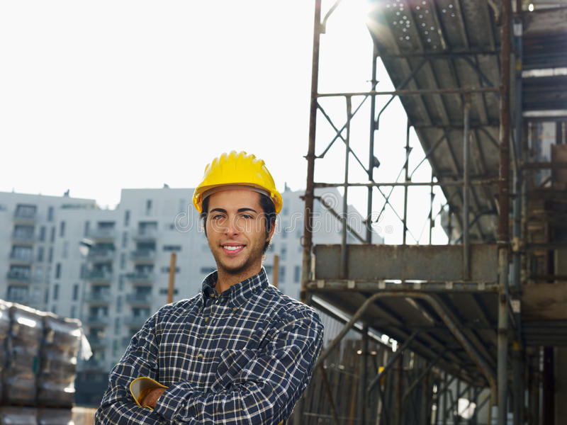 Download Construction worker stock image. Image of looking, people - 11812579