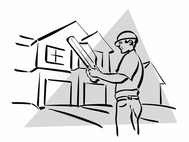 Construction worker. Illustration of a construction worker to work