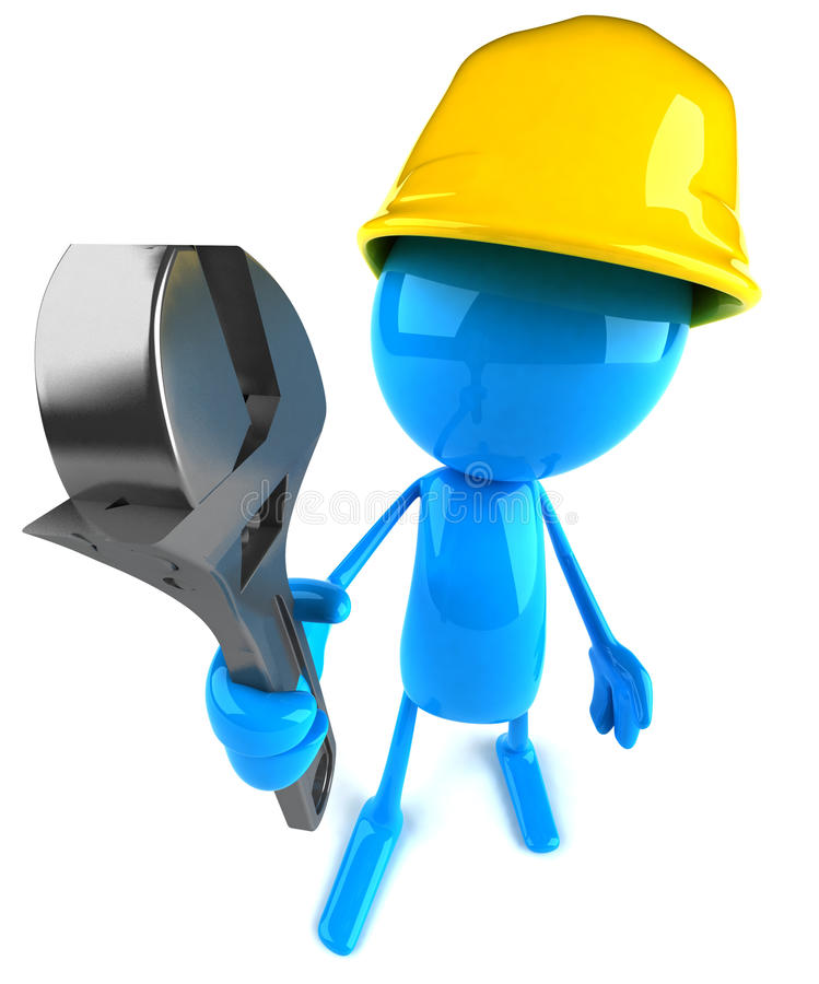 Construction worker stock illustration