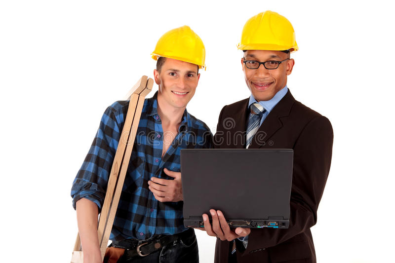 Construction Worker Architect Royalty Free Stock Images