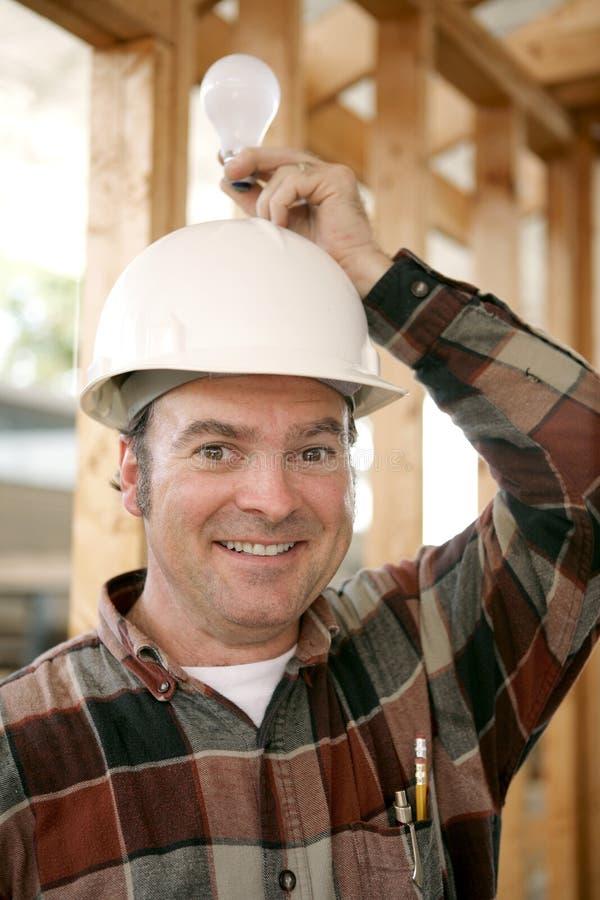 Construction Worker - Bright Idea Stock Photo