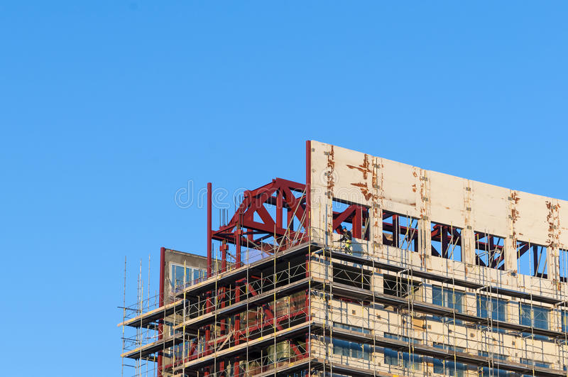 Download Construction Worker Building Scaffold Stock Photo - Image: 34479440