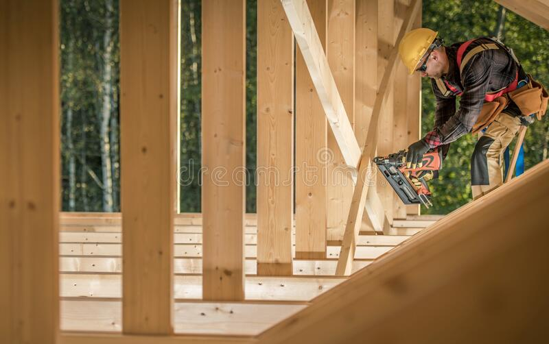 Construction Worker Contractor royalty free stock image