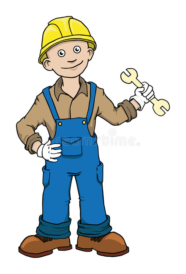 Download Construction worker stock illustration. Illustration of adorable - 33286360