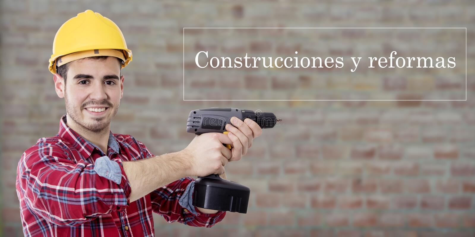 Concept of constructions and renovations stock photos