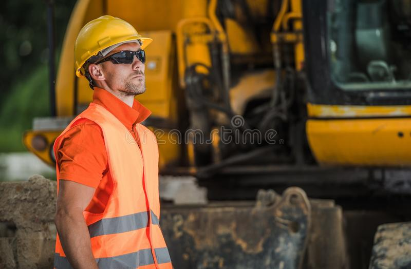 Construction Worker Duty stock photo