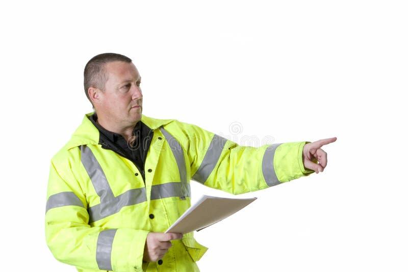 Download Construction Worker In Flourescent Jacket Stock Photo - Image: 15419376