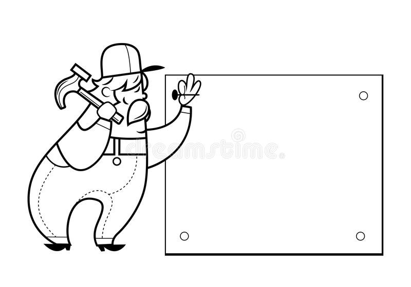 Download Construction worker stock vector. Illustration of looking - 30508632