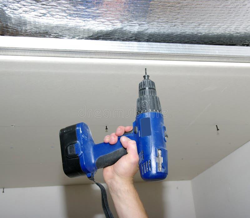 Download Hand drill stock image. Image of gypsum, crimper, plasterboard - 29972315