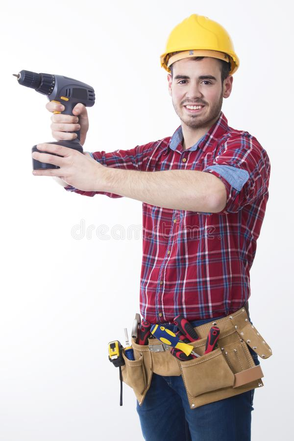 Construction worker isolated royalty free stock photos